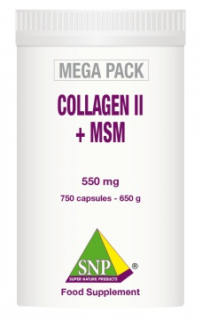 Collagen II + MSM   750 capsules-550 mg  MEGA PACK