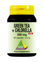 Green Tea + Chlorella 500 mg Pure